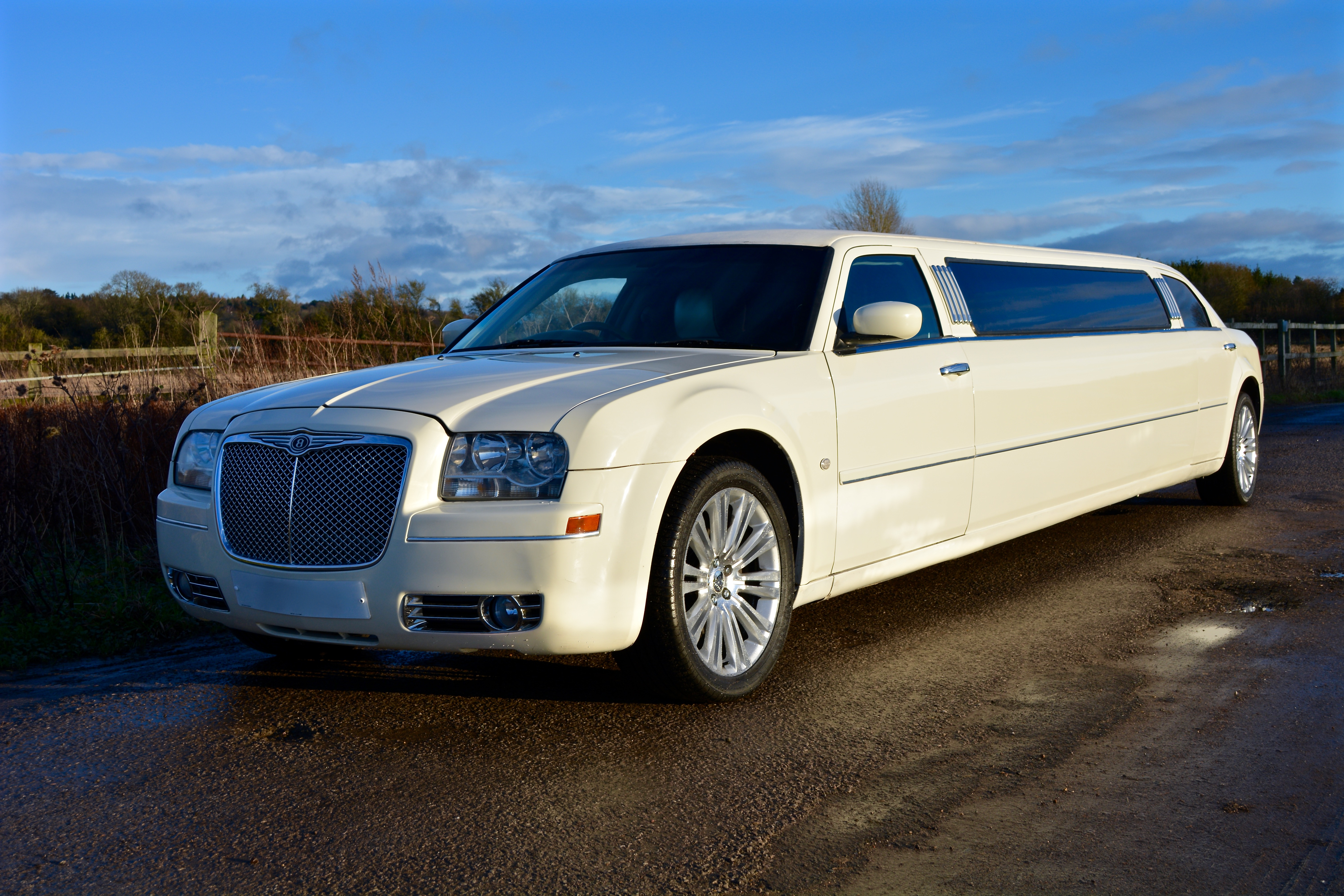 White Chrysler Limo Hire Oxford - The Oxford Limo Company